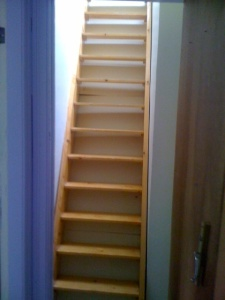 The steps to our attic