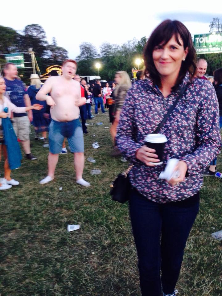 This is my friend Karen, at Paolo Nutini in Marlay Park last week. And a man, with no shirt on.