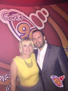 With Emmet Kennedy at our Big Night Out in the Pav last weekend. Props to MakeupbyMartha and to Leonard's Hair Salon in Douglas for the hair and makeup which lasted me until this photo was taken at approximately 3am!!!