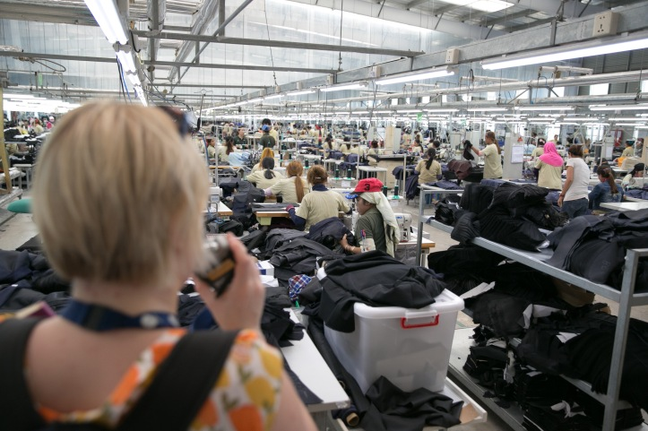 Inside the Man Ou garment factory. Photo: Rory Coomey.