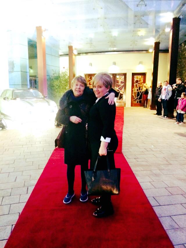 The mothers having a blast on the red carpet after our spa day and afternoon tea!