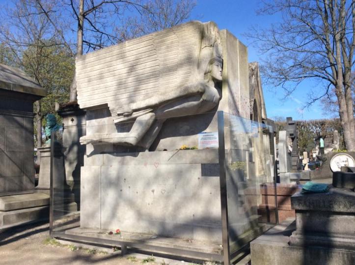 Oscar Wilde's grave.