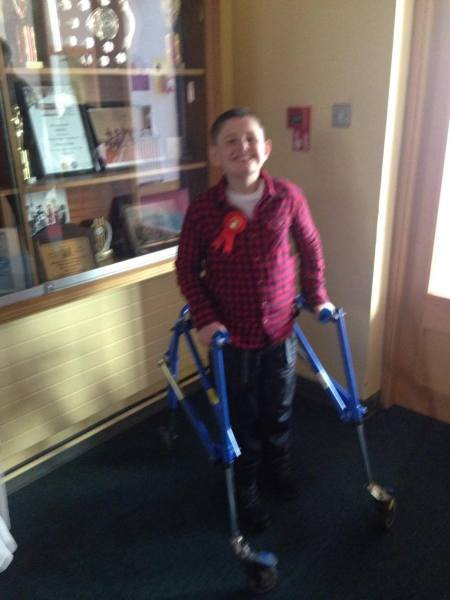 13 year old Sean Healy, who has cerebral palsy